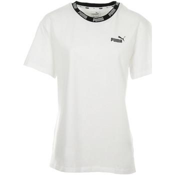 Vêtements Femme T-shirts manches courtes Puma Amplified Boyfriend Tee blanc