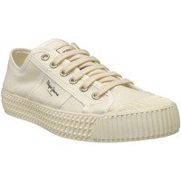 Chaussures Femme Baskets basses Pepe jeans Belife woman Ecru toile