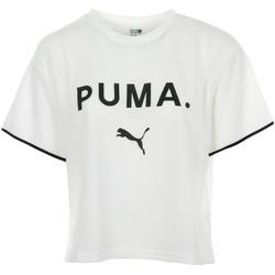 Vêtements Femme T-shirts manches courtes Puma Chase Mesh Tee blanc