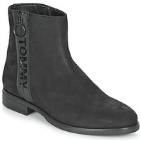 Chaussures Femme Boots Tommy Jeans TOMMY JEANS ZIP FLAT BOOT Noir