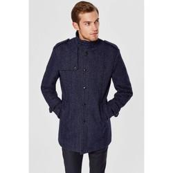 Vêtements Homme Manteaux Selected Manteau en laine boutonné H Bleu Bleu