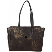 Sacs Femme Cabas / Sacs shopping Patrick Blanc Sac cabas  motif doré 509066 Marron