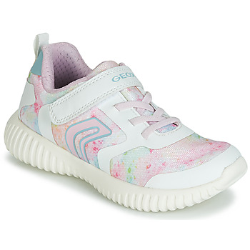 Chaussures Fille Baskets basses Geox WAVINESS WHITE