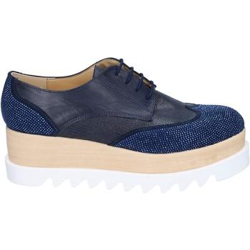 Chaussures Femme Derbies & Richelieu Olga Rubini élégantes bleu cuir synthétique daim strass BS96 bleu