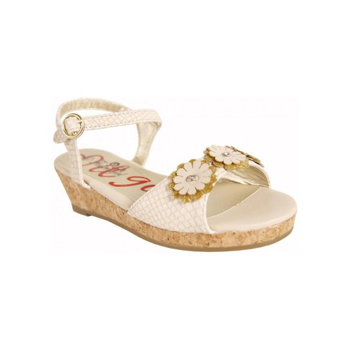 Chaussures Fille Sandales et Nu-pieds Flower Girl 221001-B4600 Beige