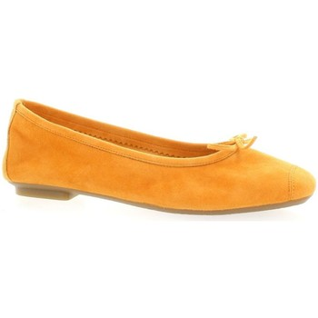 Chaussures Femme Ballerines / babies Reqin's Ballerines cuir velours Orange