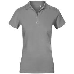 Vêtements Femme Polos manches courtes Promodoro Polo de travail grandes tailles Femmes gris acier