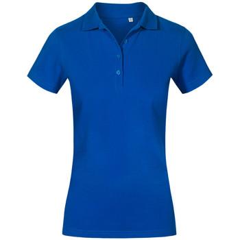 Vêtements Femme Polos manches courtes Promodoro Polo de travail grandes tailles Femmes bleu roi