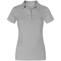 Vêtements Femme Polos manches courtes Promodoro Polo Jersey grandes tailles Femmes gris clair