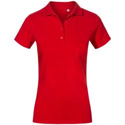 Vêtements Femme Polos manches courtes Promodoro Polo de travail grandes tailles Femmes rouge feu