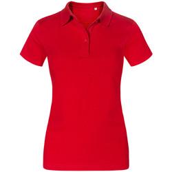 Vêtements Femme Polos manches courtes Promodoro Polo Jersey grandes tailles Femmes rouge feu