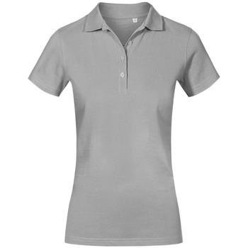 Vêtements Femme Polos manches courtes Promodoro Polo de travail grandes tailles Femmes gris clair