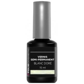 Beauté Femme Vernis à ongles Folie Cosmetic Vernis Semi permanent  Blanc Doré   15ml Blanc