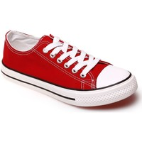 Chaussures Femme Baskets basses La Modeuse Tennis basses rouges Rouge