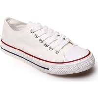 Chaussures Femme Baskets basses La Modeuse Tennis basses blanches Blanc