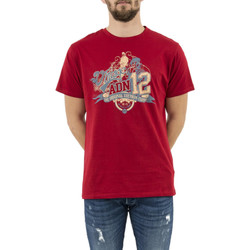 Vêtements Homme T-shirts manches courtes Adn12 vintage rouge