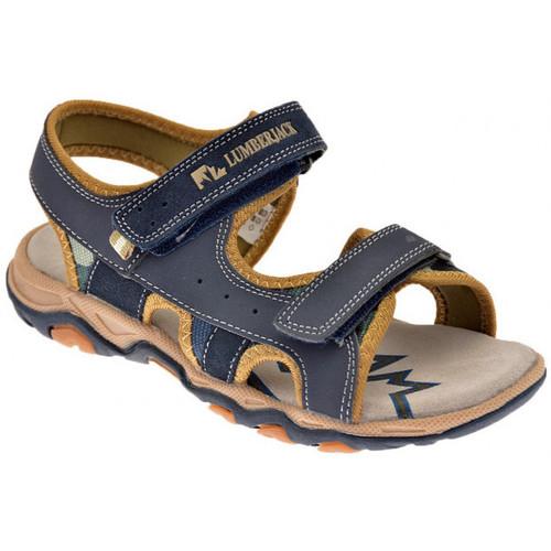 Chaussures Garçon Sandales et Nu-pieds Lumberjack Levi 30/35 Velcro Sandales bleu