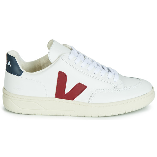 Baskets V Veja Leather BlancBleu Basses 12 Rouge m80nvNw