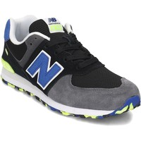 Chaussures Fille Baskets basses New Balance GC574UJC Noir, Gris, Bleu