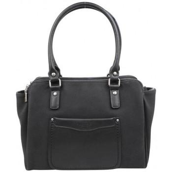 Sacs Femme Sacs porté épaule Fuchsia Sac  Tina style carré déco sellier noir Multicolor