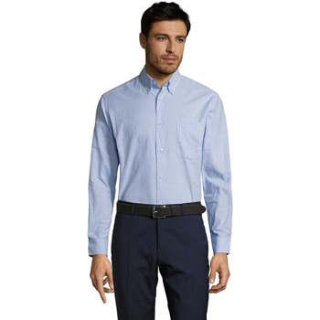 Vêtements Homme Chemises manches longues Sols BOSTON STYLE OXFORD Azul