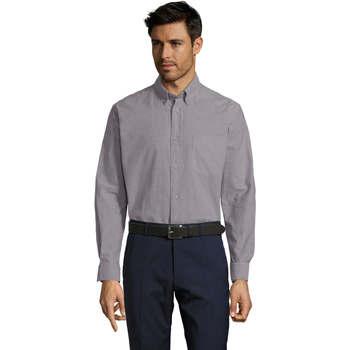 Vêtements Homme Chemises manches longues Sols BOSTON STYLE OXFORD Plata
