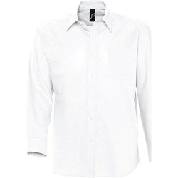 Vêtements Homme Chemises manches longues Sols BOSTON STYLE OXFORD Blanco