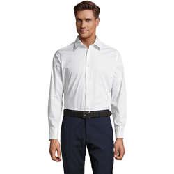 Vêtements Homme Chemises manches longues Sols BRIGHTON STRECH Blanco