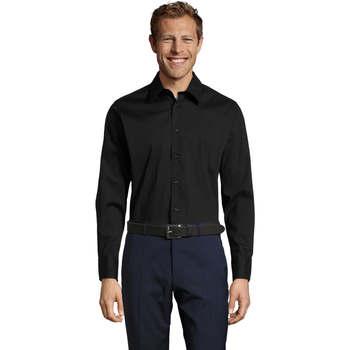 Vêtements Homme Chemises manches longues Sols BRIGHTON STRECH Negro