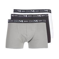 Sous-vêtements Homme Boxers DIM COTON STRETCH X3 Noir / Gris / Blanc
