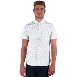 Vêtements Homme Chemises manches courtes Kaporal Chemise Manches Courtes Homme Rage Blanc et Motifs 1
