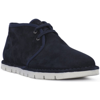 Chaussures Homme Boots Frau SUEDE BLU Blu