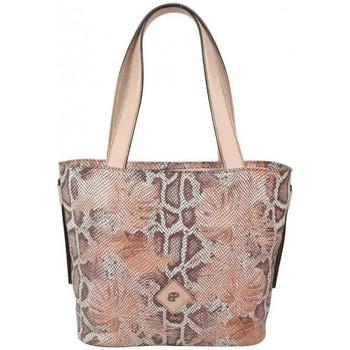 Sacs Femme Cabas / Sacs shopping Patrick Blanc Sac cabas  cuir motif lézard beige nude Beige