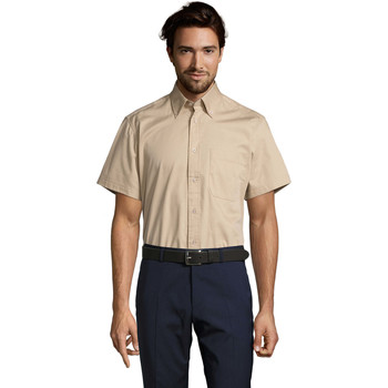 Vêtements Homme Chemises manches courtes Sols BROOKLYN TWILL DAY Beige