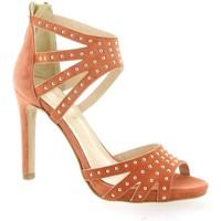 Chaussures Femme Sandales et Nu-pieds Fremilu Nu pieds cuir velours Orange