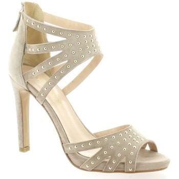 Chaussures Femme Sandales et Nu-pieds Fremilu Nu pieds cuir velours Poudré