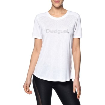 Vêtements Femme T-shirts manches courtes Desigual Tee Shirt Essentials Tee 19SOTK27 Blanc
