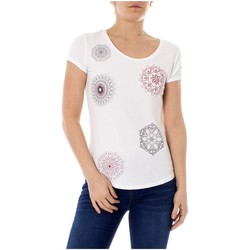 Vêtements Femme T-shirts manches courtes Desigual T Shirt Sonja Blanc 19SWTKA1 1