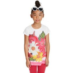 Vêtements Femme T-shirts manches courtes Desigual Pack T-Shirt +Legging Fille19SGTKAL Tamarindo rose