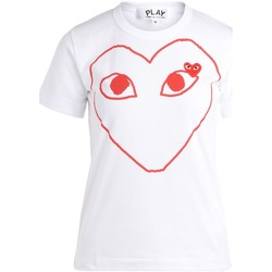 Vêtements Femme T-shirts manches courtes Comme Des Garcons T-Shirt  blanche à col rond avec cœur Blanc