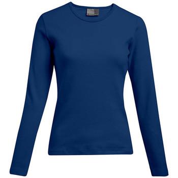 Vêtements Femme T-shirts manches longues Promodoro T-shirt interlock manches longues Femmes promotion indigo