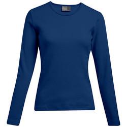 Vêtements Femme T-shirts manches longues Promodoro T-shirt interlock manches longues grande taille Femmes pomotion indigo