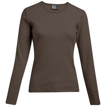 Vêtements Femme T-shirts manches longues Promodoro T-shirt interlock manches longues Femmes promotion marron