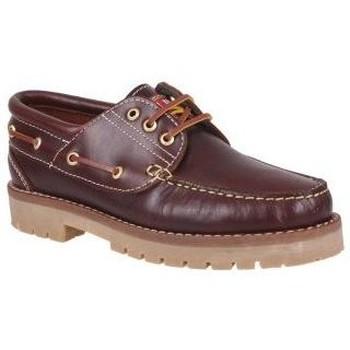 Chaussures Homme Mocassins Molina Chaussure bateau  20400 chevalier brun Marron