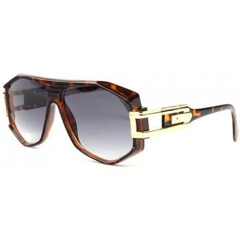 Montres & Bijoux Lunettes de soleil Soleyl Grosses lunettes de soleil marron ecailles fashion Hack Marron