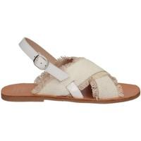 Chaussures Fille Sandales et Nu-pieds Manuela De Juan S2539 ANYA WHITE Blanc