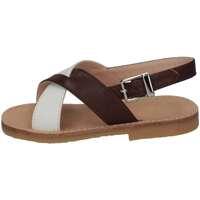 Chaussures Fille Sandales et Nu-pieds Il Gufo G737 BIANCO MORO Blanc / brun