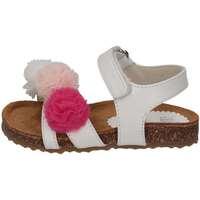 Chaussures Fille Sandales et Nu-pieds Il Gufo G563 BIANCO MULTICOL Blanc / multicolore