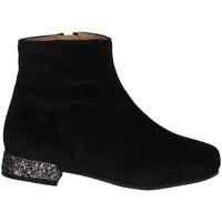 Chaussures Fille Bottes ville Unisa DIDIMA T VSN BLACK Noir
