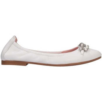 Chaussures Fille Ballerines / babies Unisa DIAMON RI WHITE blanc